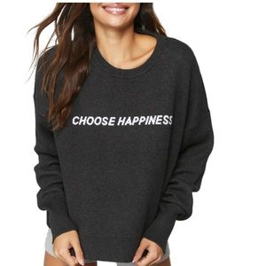 SPIRITUAL GANGSTER Choose Happiness Sweater Size S